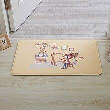 Huihong Türmatten, Mode Mädchen Schlafzimmer Küche Wohnzimmer Schlafzimmer Tür Pad Anti-Slip Matte, F, 40 X 60 Cm