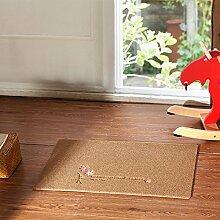 Huihong Türmatten, Rutschfestem Füße Pads an der Tür Tür Fußmatte Fußmatte, 50 * 80 cm, C, Braun