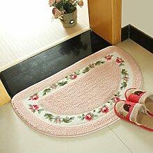 Huihong Türmatten, Semi Matte Schlafzimmer Wohnzimmer Tür Tür Mat Watergate Matten Bad Mat, 40 X 60 Cm, Pink