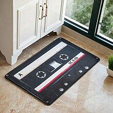 Huihong Türmatten, stilvolle Schlafzimmer Wohnzimmer Teppich Tür Teppich Fußmatte, J, 50 X 80 Cm