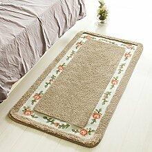 Huihong Türmatten, Wohnzimmer Schlafzimmer Teppich Tür Mat-Slip Sog Badematte Badezimmer Balkon Küche Fußmatte, 45 x 75 cm, Kamel