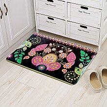 Huihong Türmatten, Wohnzimmer Schlafzimmer Tür zum Treten Pad Anti-Slip Matte Schmutzfangmatten, B, 60 * 90 cm.