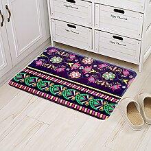 Huihong Türmatten, Wohnzimmer Schlafzimmer Tür zum Treten Pad Anti-Slip Matte Schmutzfangmatten, D, 60 * 90 cm.