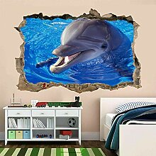HUIHUI Delphin Wandaufkleber 3D Aussehen-Kunst