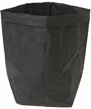 Huijun wiederverwendbar Verdickte Kraftpapier Tasche Aufbewahrung, waschbar Verdickte Pflanze Blumen Töpfe Multifunktions--Blume Aufbewahrungskorb für Spielzeug/Kleidung/Bücher (28cm, BK)