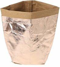 Huijun wiederverwendbar Verdickte Kraftpapier Tasche Aufbewahrung, waschbar Verdickte Pflanze Blumen Töpfe Multifunktions--Blume Aufbewahrungskorb für Spielzeug/Kleidung/Bücher (35cm, RGD)