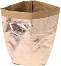 Huijun wiederverwendbar Verdickte Kraftpapier Tasche Aufbewahrung, waschbar Verdickte Pflanze Blumen Töpfe Multifunktions--Blume Aufbewahrungskorb für Spielzeug/Kleidung/Bücher (20cm, RGD)