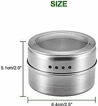 HUIJUNWENTI 6PCS Magnetic Spice Jar Aufkleber