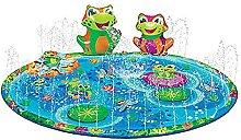 HUIKJI 144 cm runde Sprinkle & Splash Spielmatte,