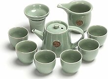 HuiLai Zhang 10-teiliges Tee-Set aus Keramik
