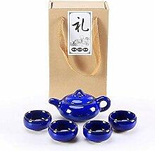HuiLai Zhang Binglie Tee-Set (Farbe: Saphirblau)