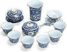 HuiLai Zhang Keramik-Tee-Set mit Meereswellen, Ben