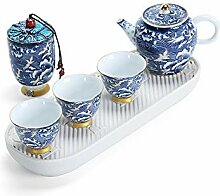 HuiLai Zhang Keramik-Tee-Set tragbar Auto Reise