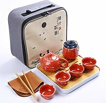 HuiLai Zhang Reise-Tee-Set Teetablett Teedose
