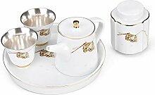 HuiLai Zhang Silver Trip Grade Tee-Set für zwei