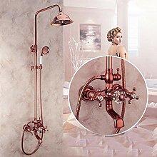 Huin 2 Farben Duscharmaturen Luxus Messing Regen