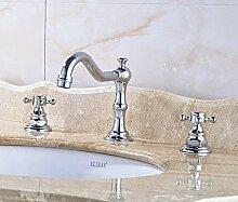 Huin Becken Wasserhahn Doppelgriff Badezimmer