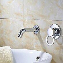 Huin Chrom-Finish Waschbecken Wasserhahn Eingriff