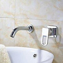 Huin Chrom Waschbecken Wasserhahn Einhand/Loch Bad
