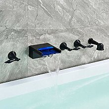 Huin Wand-LED-Wasserfall Badewanne Wasserhahn weit