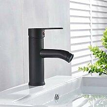 Huin Waschbecken Wasserhahn Badezimmer Mattschwarz
