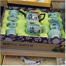 HuiQing Zhang 10 Celadon Tee-Set Kung Fu Tee