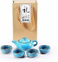 HuiQing Zhang Binglie Tee-Set, Hellblau