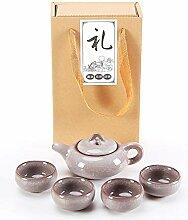 HuiQing Zhang Binglie Tee-Set, Kristallweiß