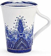 HuiQing Zhang Blau und Weiß Porzellan Büro Tasse