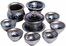 HuiQing Zhang Built Cup Kung Fu-Tee-Set,