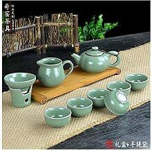 HuiQing Zhang Ge Tea Binglie Set mit 10 blauen