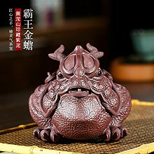 HuiQing Zhang Keramik-Skulptur, lila Ton für Tee,