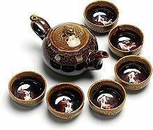 HuiQing Zhang Ofen-Tee-Set (Farbe: gelb)