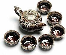 HuiQing Zhang Ofen-Tee-Set (Farbe: Weiß)