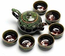 HuiQing Zhang Ofen-Tee-Set, Grün