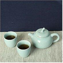 HuiQing Zhang Reise-Tee-Set mit zwei Tassen,
