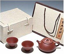 HuiQing Zhang Tee-Set Kung Fu Teekanne, 2 Tassen,