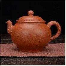 HuiQing Zhang Teekanne aus Ton (Farbe: Braun)