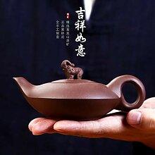 HuiQing Zhang Teekanne aus Ton, Viole