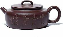 HuiQing Zhang Teekanne mit flachem Bauch (Farbe: