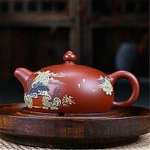 HuiQing Zhang Teekanne mit Halbmond-Motiv,