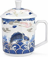 HuiQing Zhang Weiße Keramik-Tasse aus Porzellan