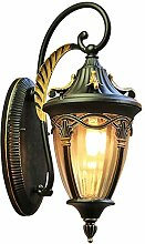 HUIRUI Nostalgische Außenlampe Wandleuchte