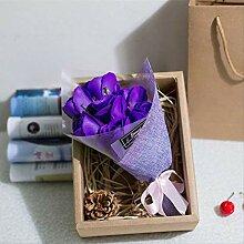 Huishuo Sieben Seifen-Blumen-Geschenkbox