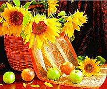 huitu Apple Sunflower - 50x50cm Diamantstickerei