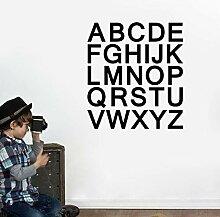 HUIYAOSHUYU Alphabet Buchstaben Kinderzimmer