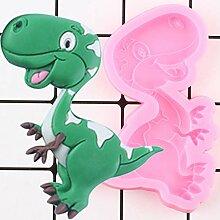 HUIZHANG 3D Cartoon Dinosaurier Silikonformen Keks
