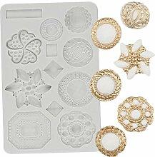 HUIZHANG 3D Gem Schmuck Silikon -Form -Buttons
