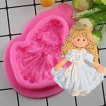 HUIZHANG Prinzessin Girl Kuchen Silikon formt Baby