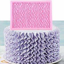 HUIZHANG Ruffle Falten Silikon Formen Wedding Cake